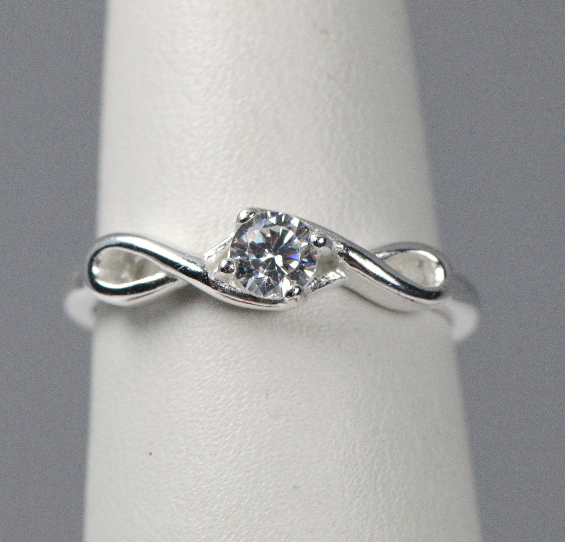 Sterling Silver Infinity Cz Promise Ring Rings Promise