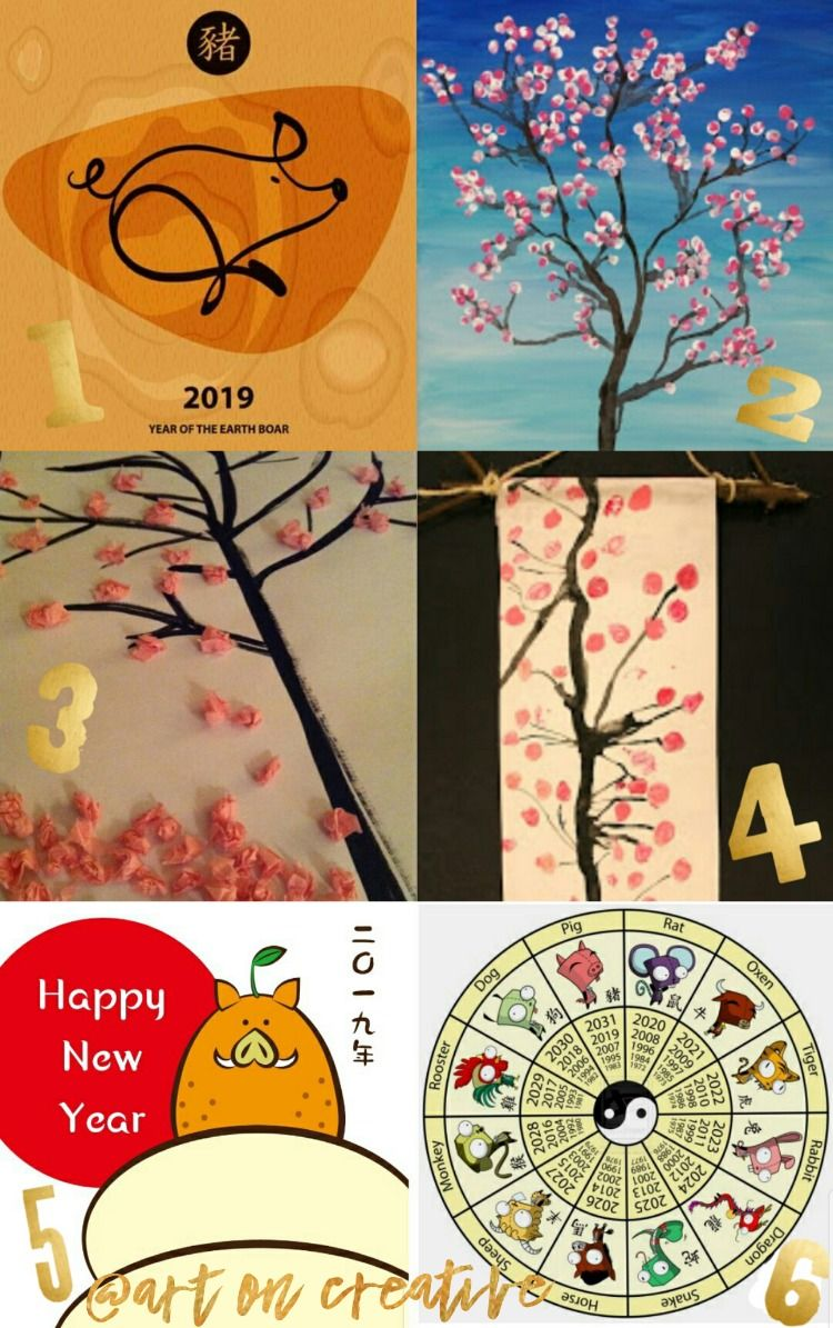2019 Chinese Lunar New Year Scroll Art Project for Kids