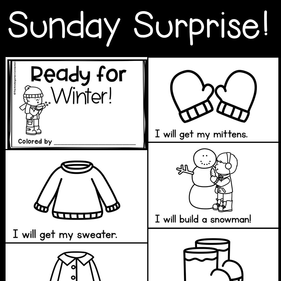 Sunday Surprise In 2020 Winter Theme Preschool Winter Activities Preschool Winter Kindergarten [ 960 x 960 Pixel ]