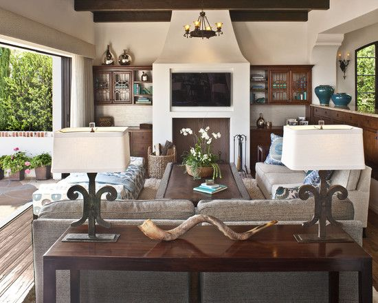 A Touch Of Spanish Colonial In The Palisades  Family Room Magnificent Best Living Room Design Decorating Inspiration