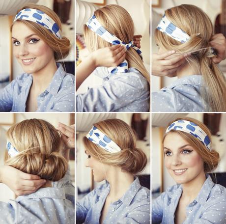 håruppsättning med hårband