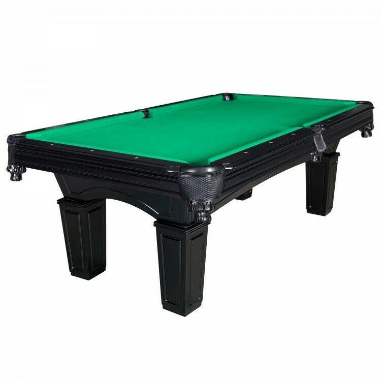 Slate Pool Table With Green Felt 8ft Drop Pocket Billiard Table