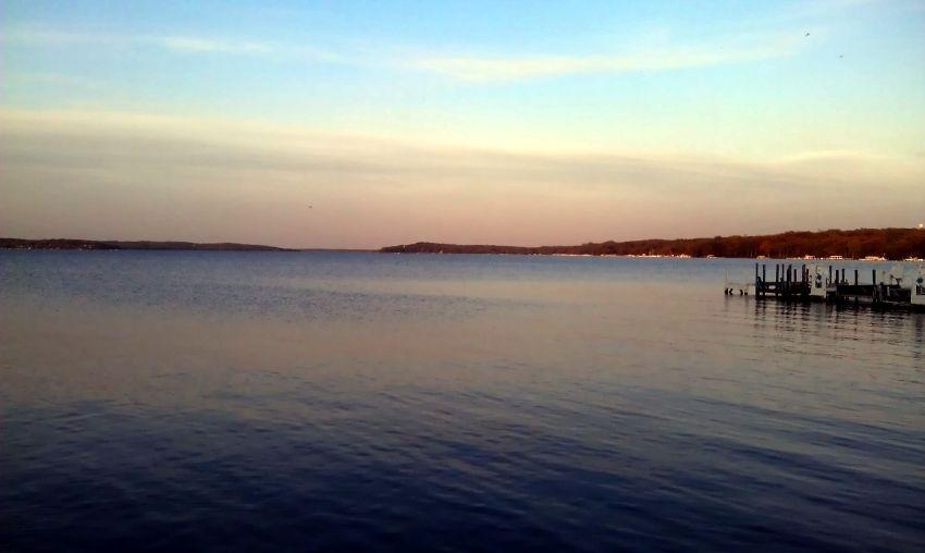 Fontana Beach On Geneva Lake In Wisconsin