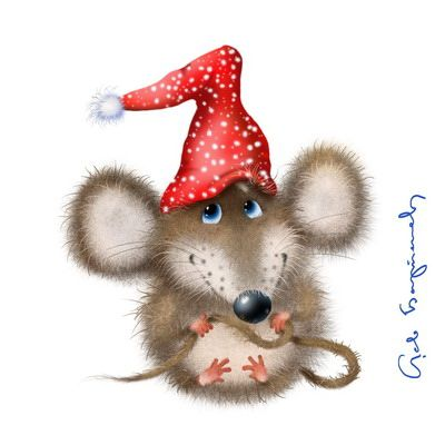 Christmas Mouse.Christmas Mouse All Holidays All Animals Rozhdestvenskoe