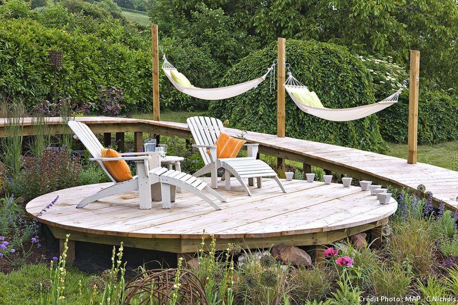 Créer une terrasse en bois  le pas à pas Lanai, Garden ideas and - construire sa terrasse en bois soimeme