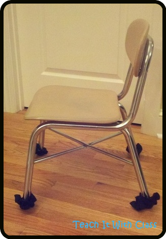 Beau Felt Chair Feet   Stop The Scraping And Scratching When A Students Pushes  Their Chair Back!