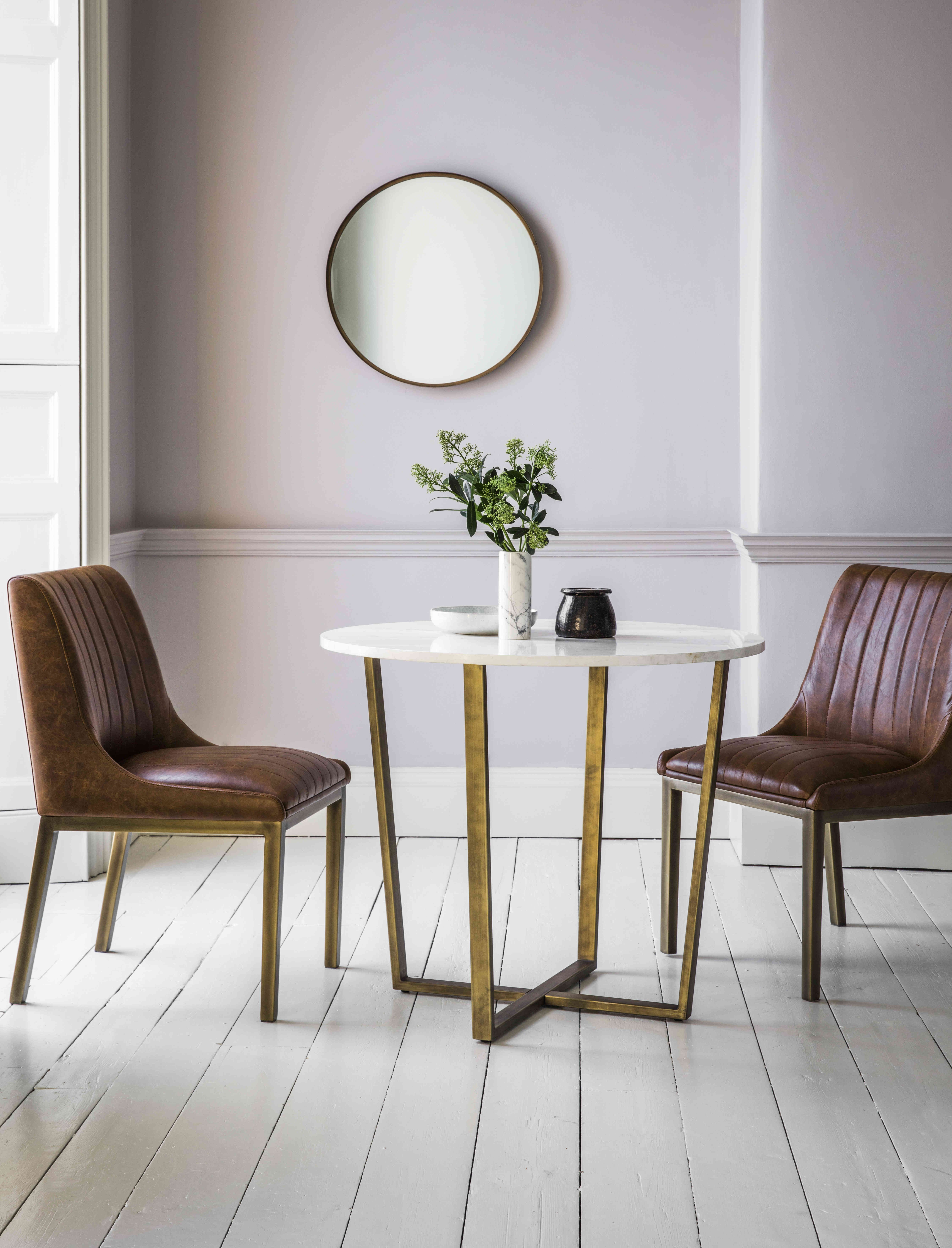 Gold Side Table Leather Chairs Coming To Furniture Village Soon Marble Top Dining Table Dining Table Marble Round Marble Dining Table