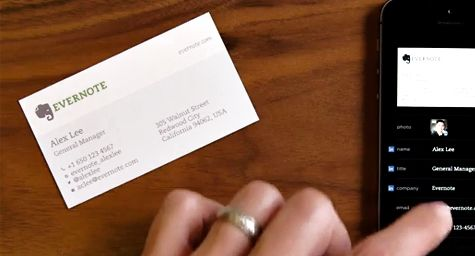 Evernote links up with linkedin to make business connections more evernote links up with linkedin to make business connections more convenient say bye bye to business card backlog with the new card scanning service from reheart Choice Image