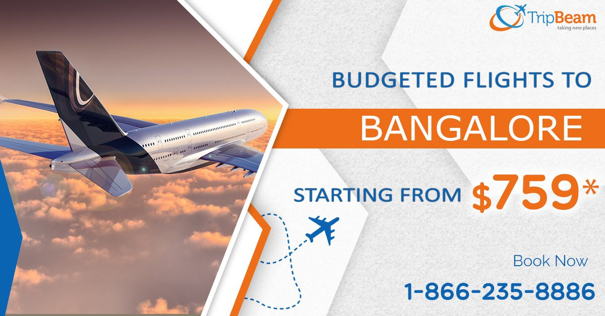 Book your flight ticket to Bangalore on cheap airfares. Get the discounted flights only on Tripbeam. Book Now!  For more information: Contact us at: 1-866-235-8886 (Toll-Free).  #TravelOffers #flightstobangalore #discountedflighttickets #BangaloreTourism #BangaloreTrip #BangaloreTour #Vacations #Destinations #TouristsDestinations #Cheapflights #travel #Tourism #BookNow