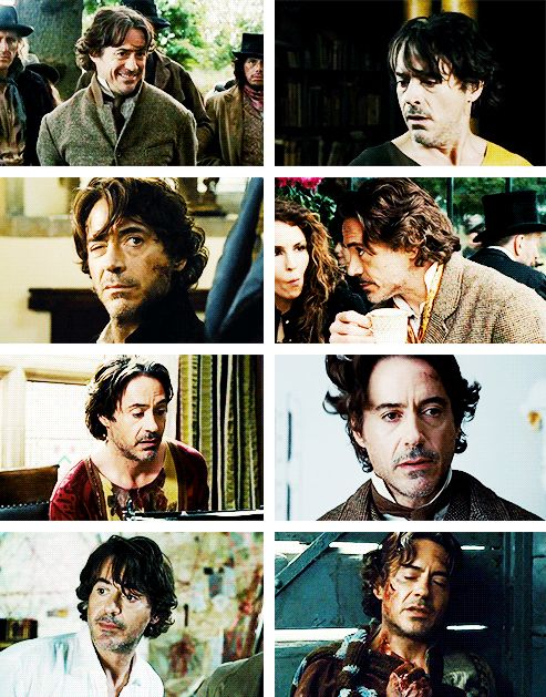 Sherlock Holmes (Robert Downey Jr.) hair appreciation post.