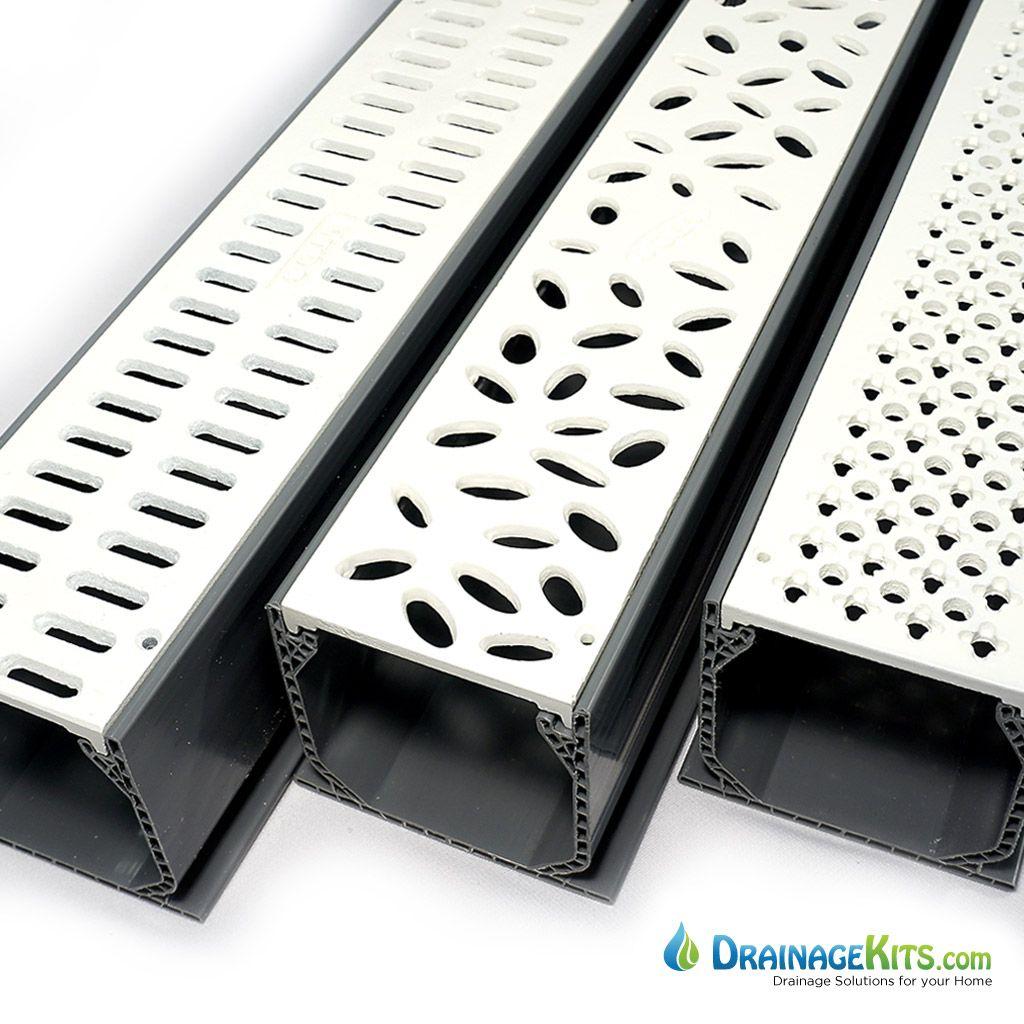 Decorative Metal Grates Nds Mini Channel Kit W Aluminum Powder Coated Grates White