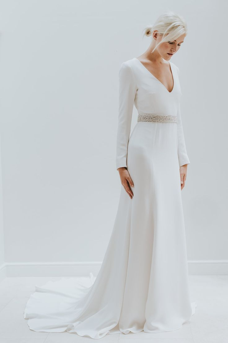 Elegant Minimal Bridal Gowns By Charlotte Simpson