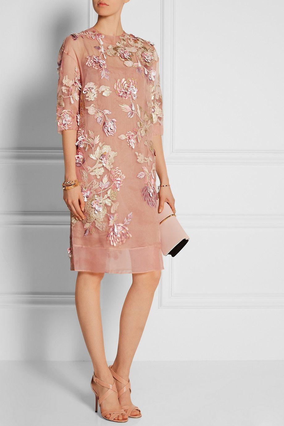 Biyan is fast becoming one of my favorite brands. (Biyan | Ava embellished silk-blend organza dress)
