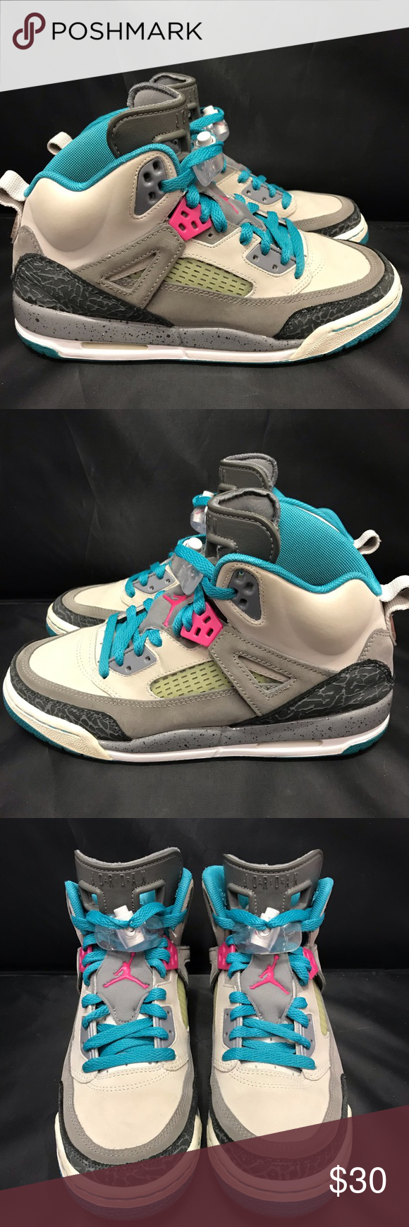 best website 41b6b 9a271 Nike Air Jordan Spizike GS Brooklyn Shoes Size 6Y Nice pair of Youth Nike  Air Jordan