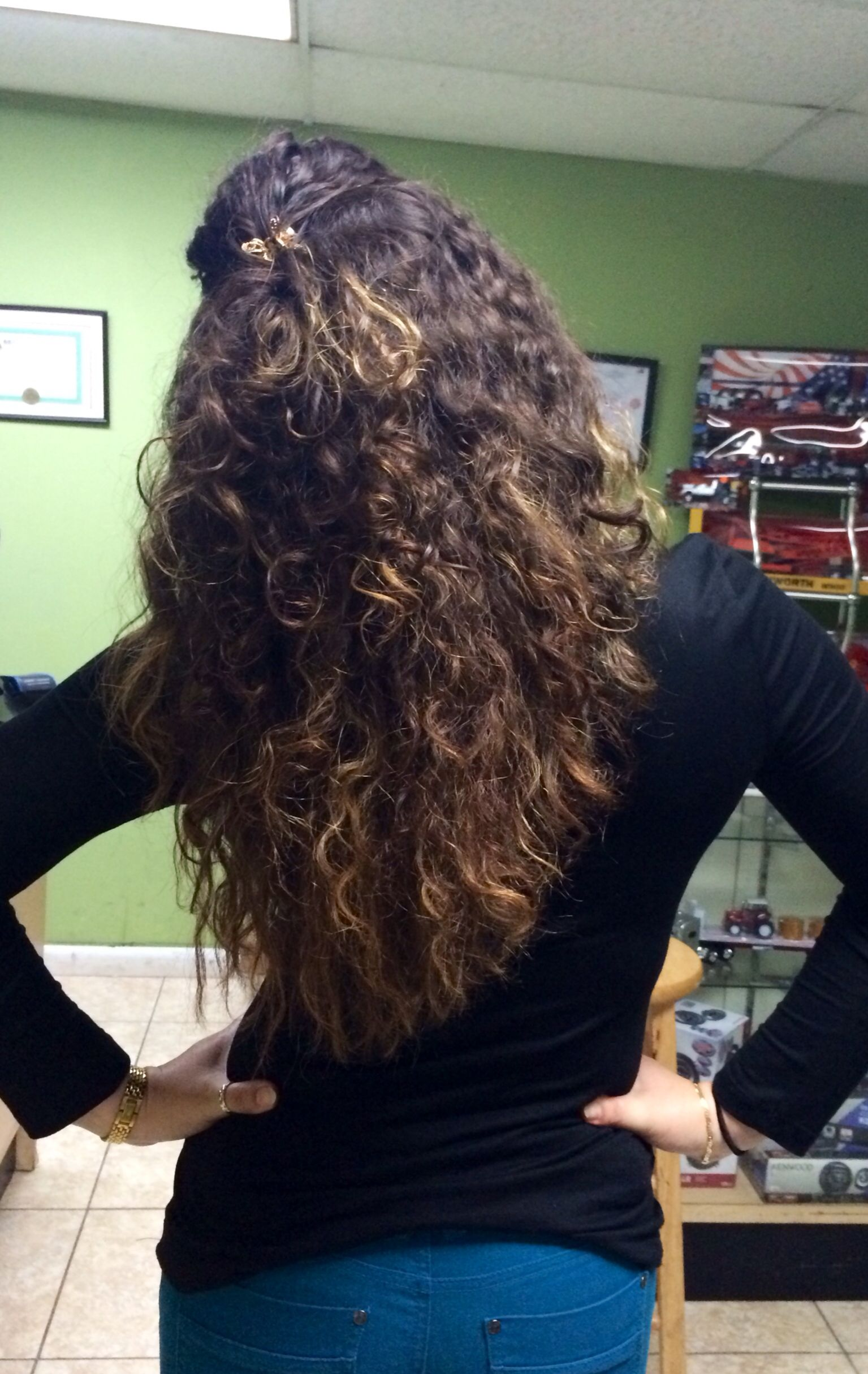 Natural Curly Hair Ombre Highlights Ombr Curly Hair Pins By