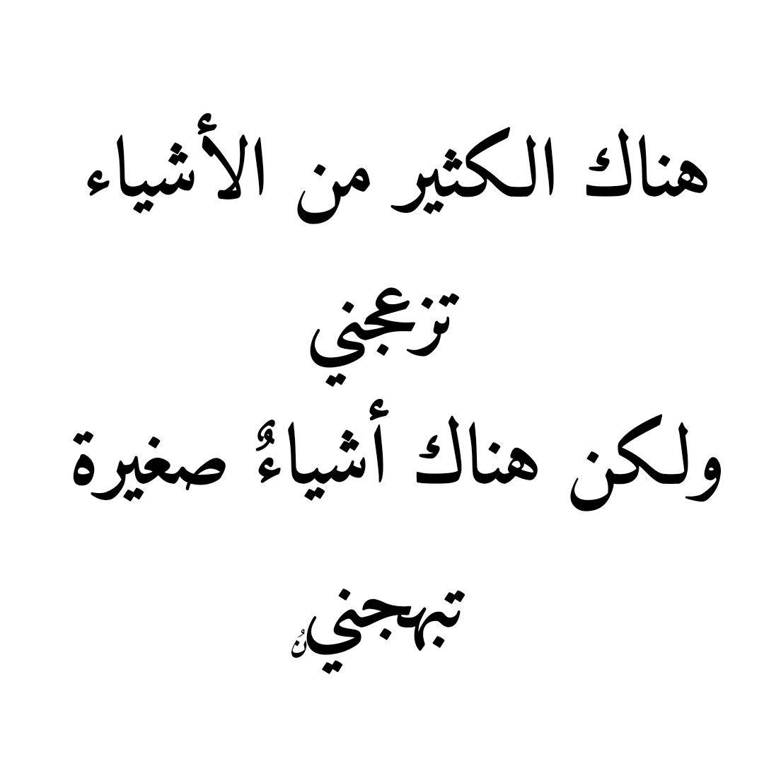 هناك الكثير من الأشياء تزعجني ولكن هناك أشياء صغيرة تبهجني ن سيبة الحمدانية Arabic Calligraphy Calligraphy
