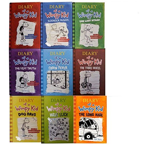 Diary of a wimpy kid book 1 9 complete hardcover set by jeff kinny diary of a wimpy kid book 1 9 complete hardcover set solutioingenieria Choice Image