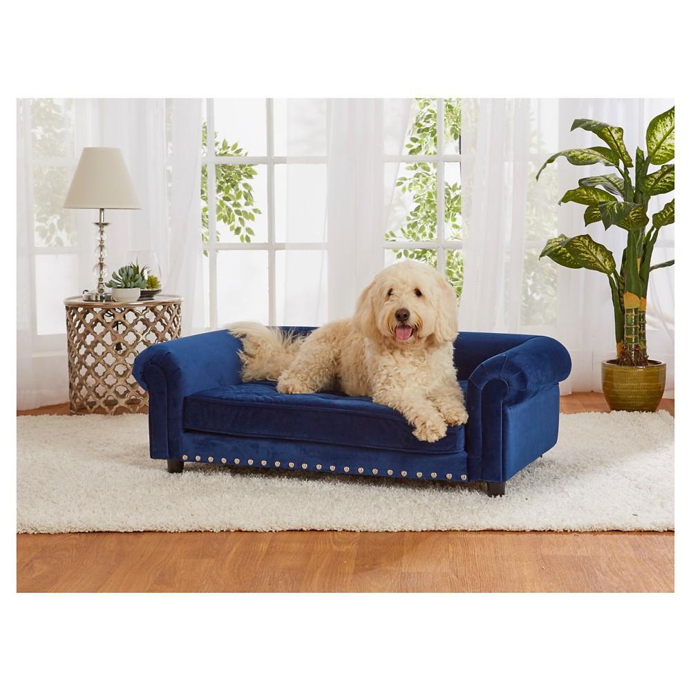 Enchanted Home Pet Manchester Velvet Pet Sofa Pet Sofa Dog Sofa Bed Dog Sofa