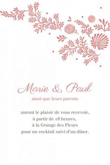 Pin By Really Frenchie On French Wedding Invitation Mariage