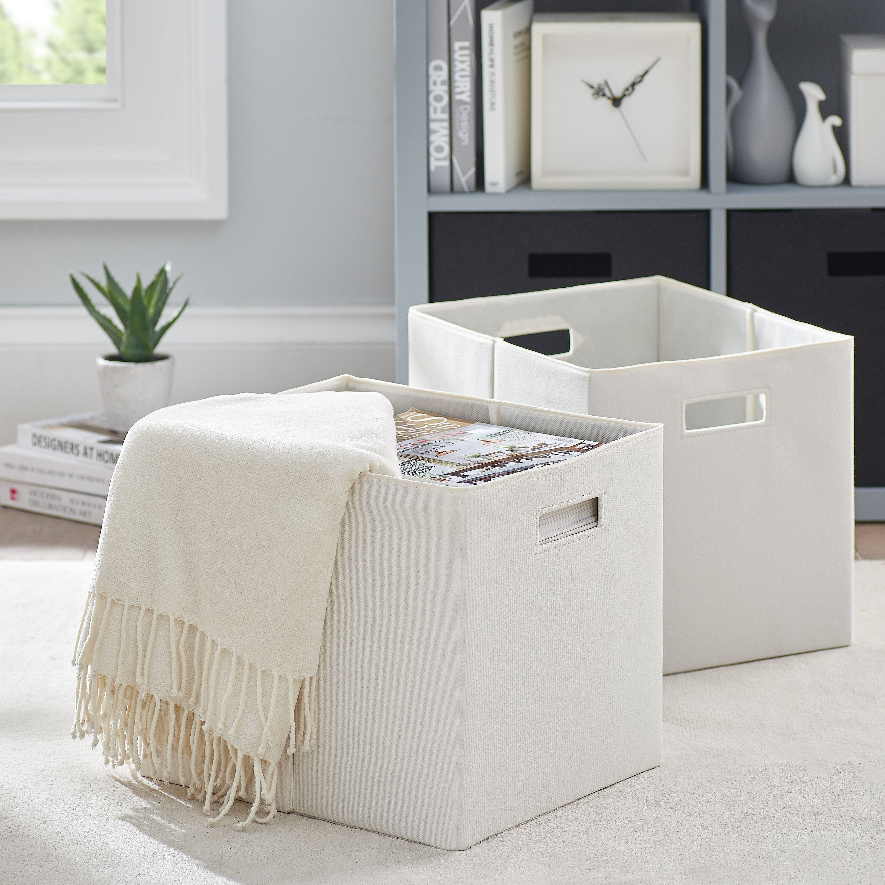 1845cff3f4291bc5f9c9dfdee3c33171 - Better Homes And Gardens Fabric Storage Bin Gray