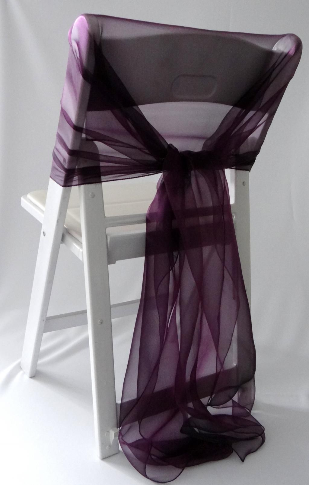 lux-diy-folding-chair-covers-with-purple-ribbons More & Encanting Folding Chair Covers Inspirations | Shelleyu0027s Wedding ...