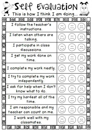 Personal Self Evaluation Vzdelavani Skola Trida