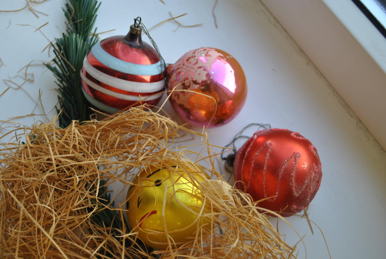 Ded Moroz Soviet Vintage Christmas Ornaments Santa Claus Christmas Glass Ornament Soviet Collectible Ornaments USSR