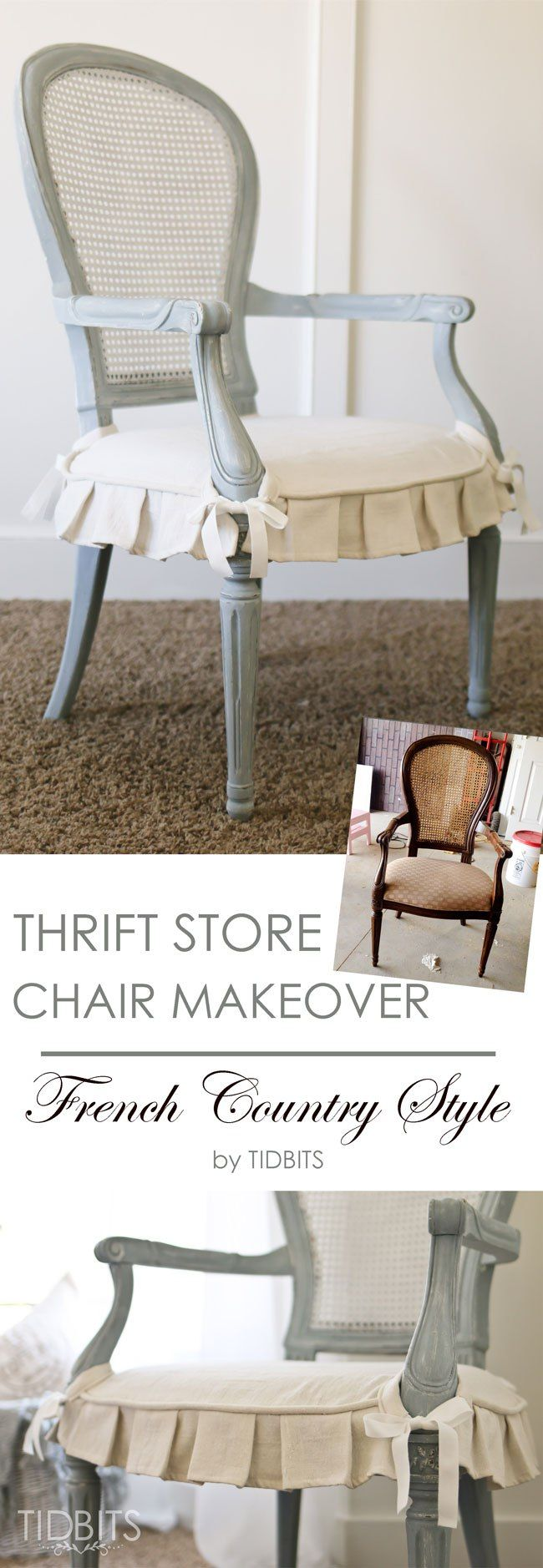 Thrift Chair Makeover French Country Style Tidbits