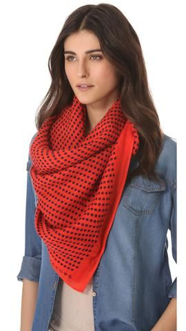 Marc by Marc Jacobs Woven Isabella Dot Scarf | SHOPBOP