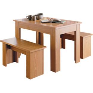 Buy Warsaw Oak Melamine Dining Table and 2 Benches at Argos.co.uk - Your Online Shop for Dining sets.  sc 1 st  Pinterest & Buy Warsaw Oak Melamine Dining Table and 2 Benches at Argos.co.uk ...