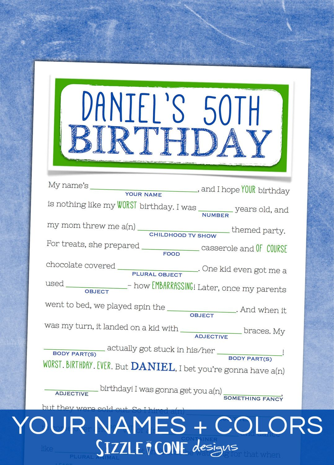 Birthday Party Games For Adults Fresh Birthday Mad Libs