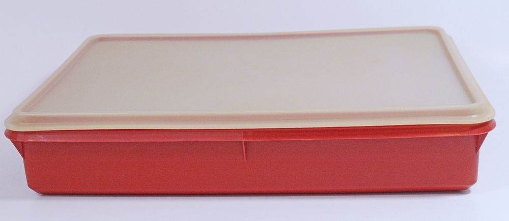 Nice 2 Pc TUPPERWARE 9 X 13 Cold Cut Lunchmeat Keeper Storage Container #290 9