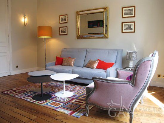 Comfortable beautiful two-bedroom Paris apartment close to Louvre
