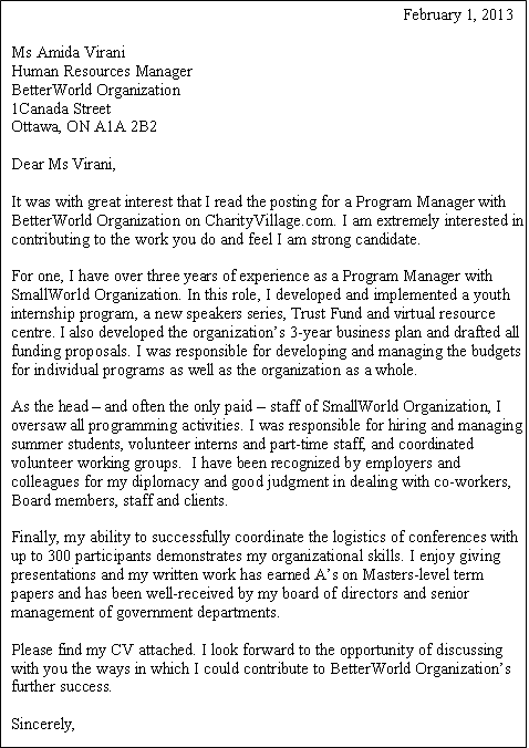 "How To Write A Letter Of Interest For A Job Gorgeous Career Q Demonstrating ""best Fit"" In A Cover Letter  Health ."