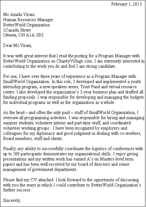 community engagement cover letter