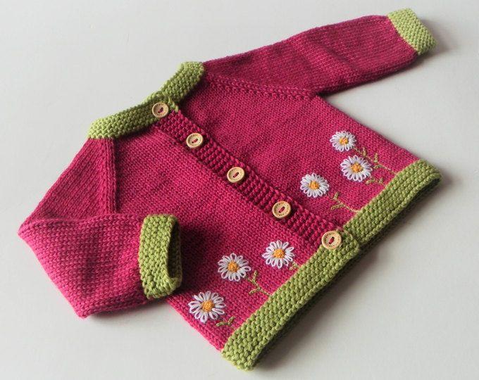 c9060ed1670d SOFORT lieferbar Größe 0-3 Monate stricken Baby Mädchen Merino rosa ...
