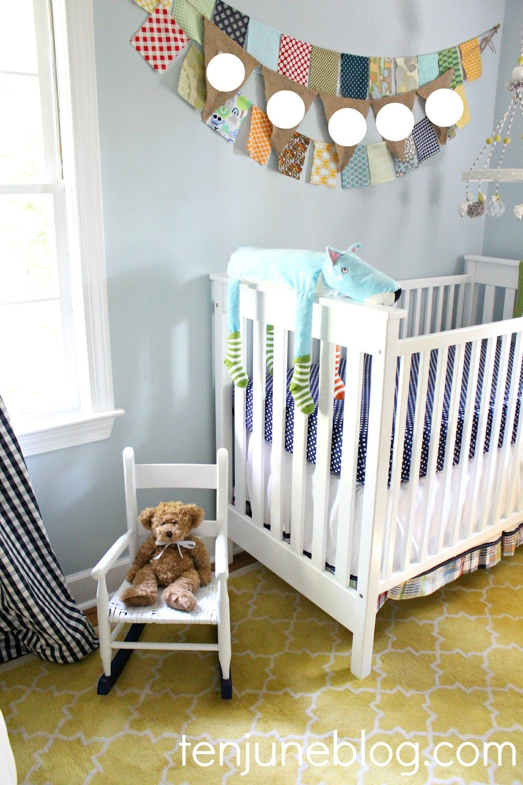 Baby Boy Room Color Ideas: Sherwin-Williams Sleepy Blue (SW 6225) -- Ten June Blog