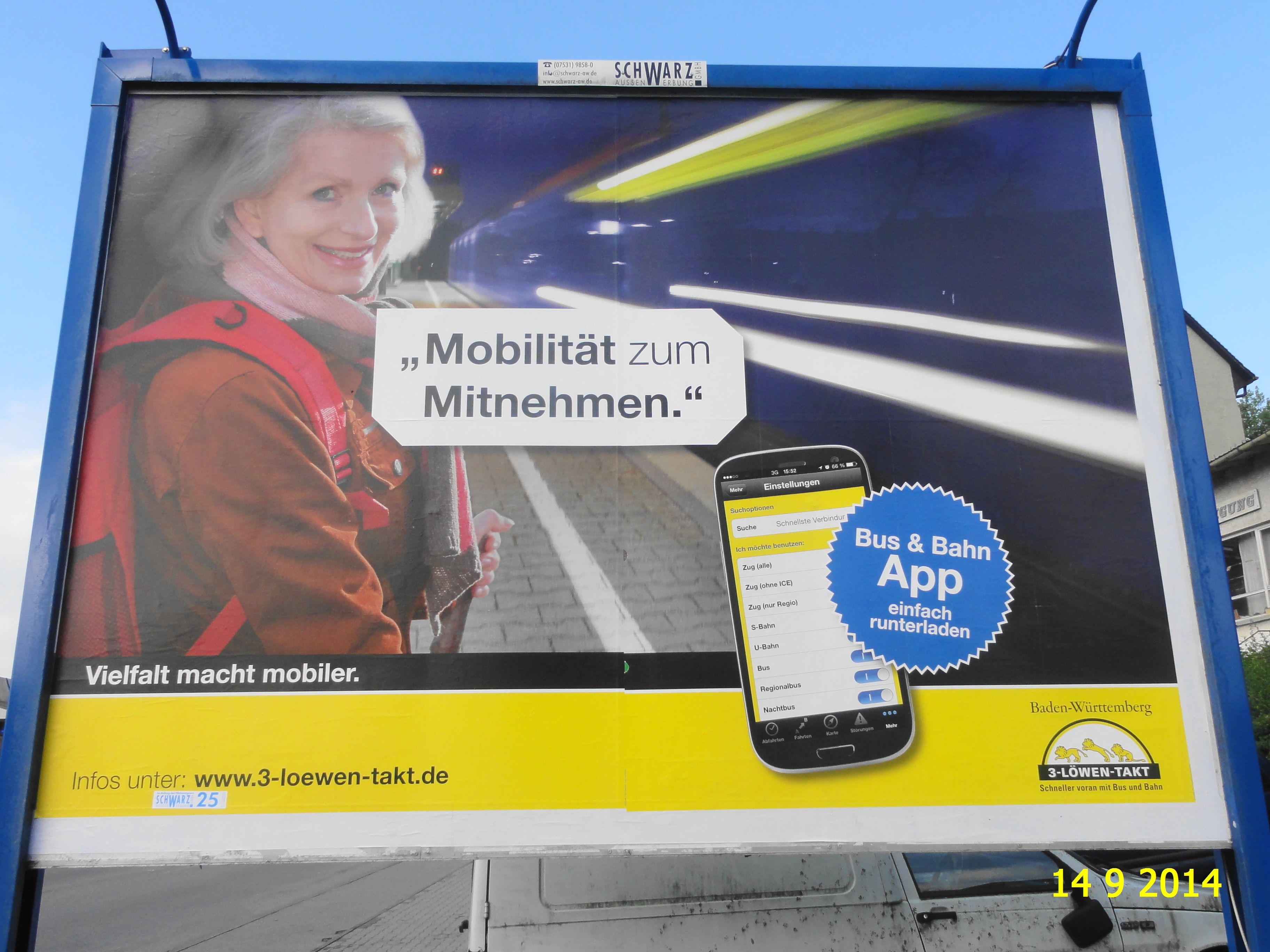390. - Plakat in Stockach. / 14.09.2014./