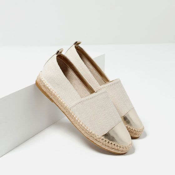 Image 5 of ESPADRILLES WITH TOE CAP DETAIL from Zara