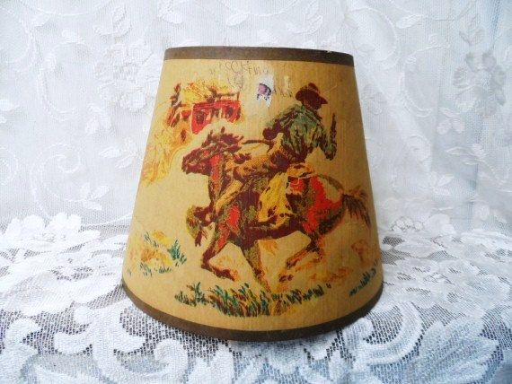 Western cowboy lamp shade vintage horse rider stagecoach light western cowboy lamp shade vintage horse rider stagecoach light shade authentic lampshade mozeypictures Gallery