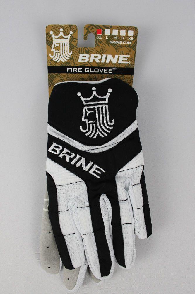 Womens Lacrosse Field Hockey Gloves Black White XL Extra Large Brine Fire  Mesh df74adbe0