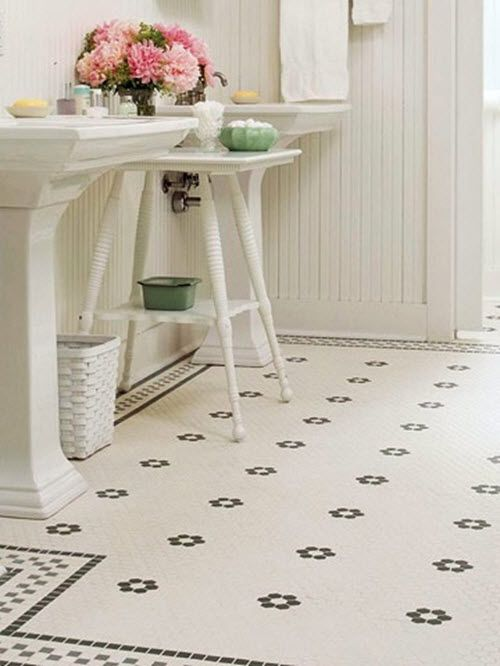 Ceramic Tiles Top Choice For Bathroom Flooring.   I Love The Black And White  Tile But Still Reads Light And Airy As There Isnu0027t Too Much Black, ...