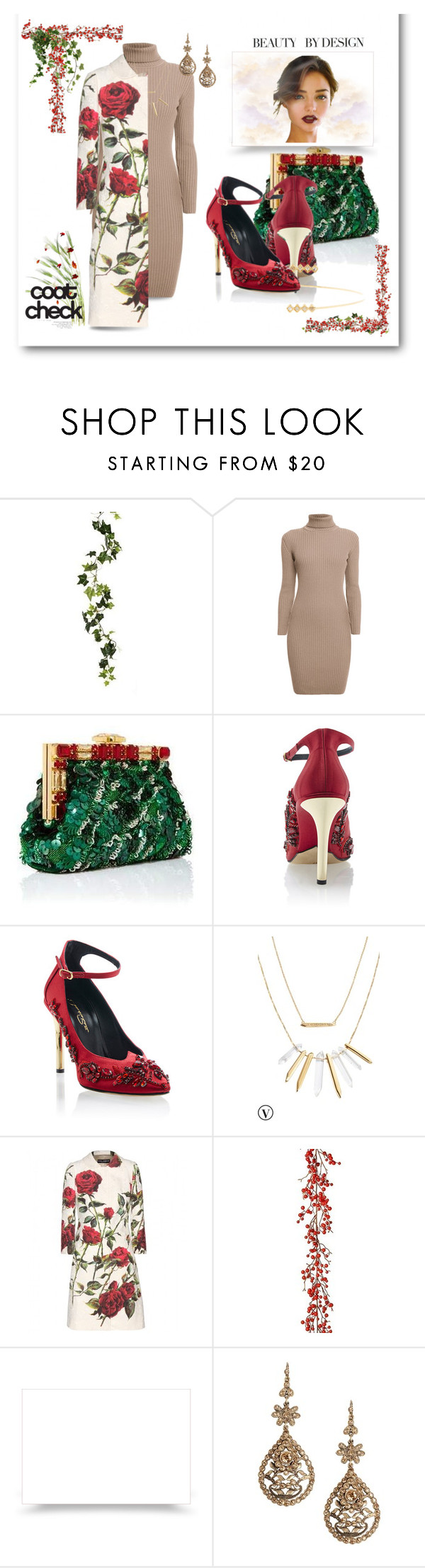 """Beauty by Design"" by afezoftheheart ❤ liked on Polyvore featuring Rumour London, Dolce&Gabbana, Oscar de la Renta, Stella & Dot, Alberta Ferretti, floralprint, winterfashion and coolcoat"