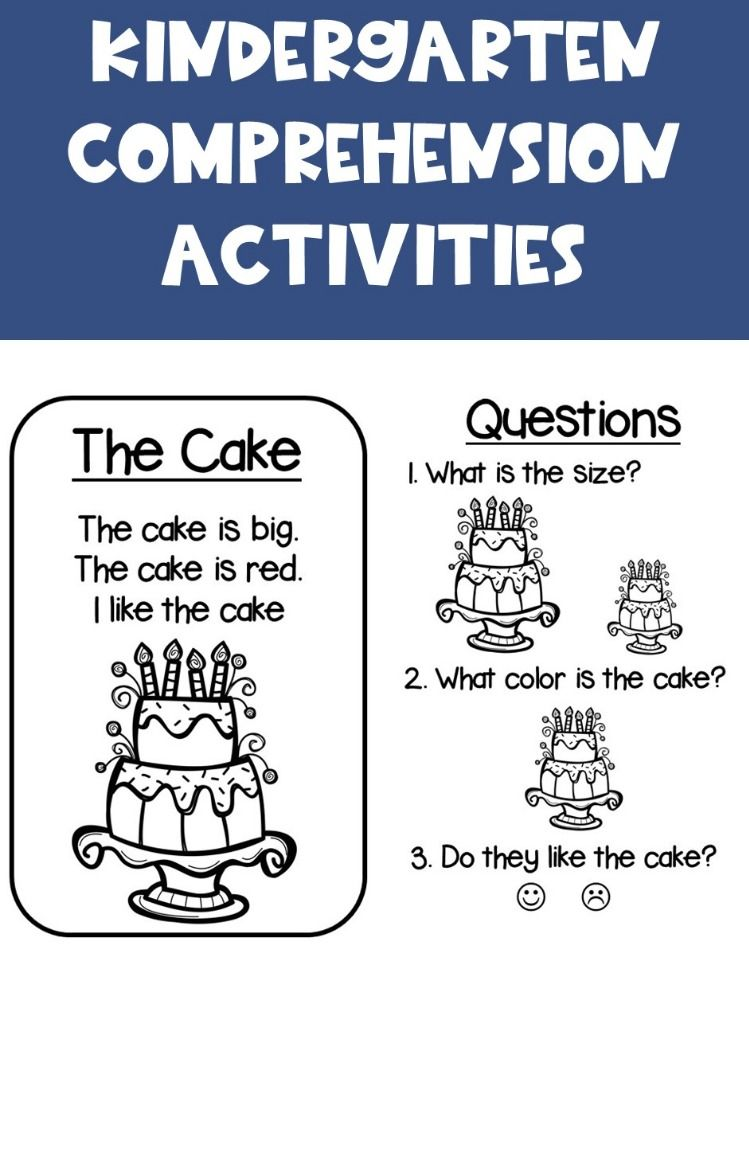 - Kindergarten Comprehension {Color Words} (With Images