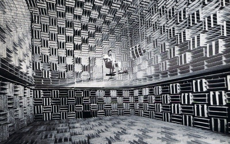 Composer John Cage In The Anechoic Chamber At Harvard University John Cage Anechoic Chamber Biometrics Technology