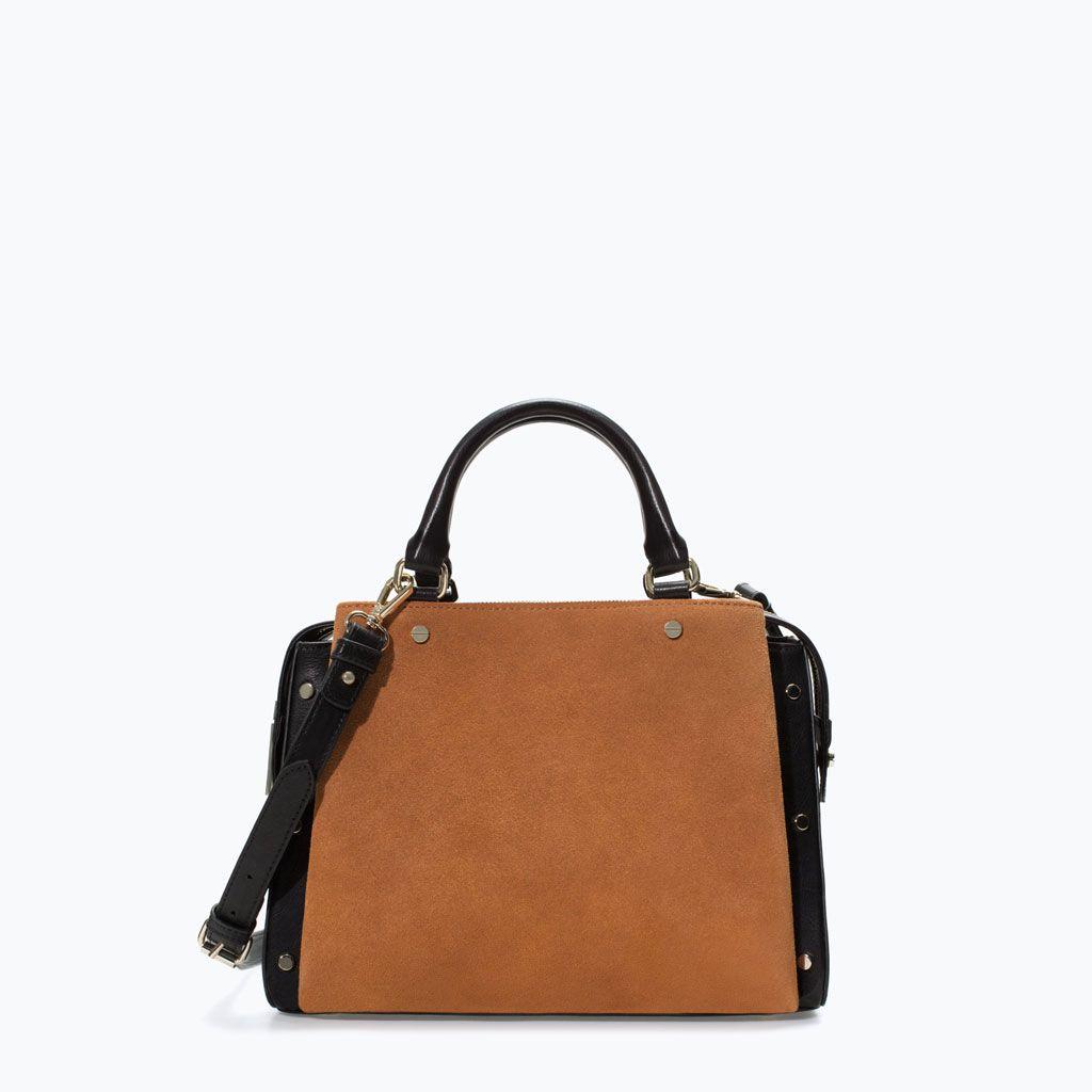 ZARA WOMAN COMBINED OFFICE CITYBAG Handbags Pinterest