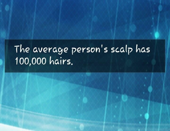 Fact about the average person's scalp ...