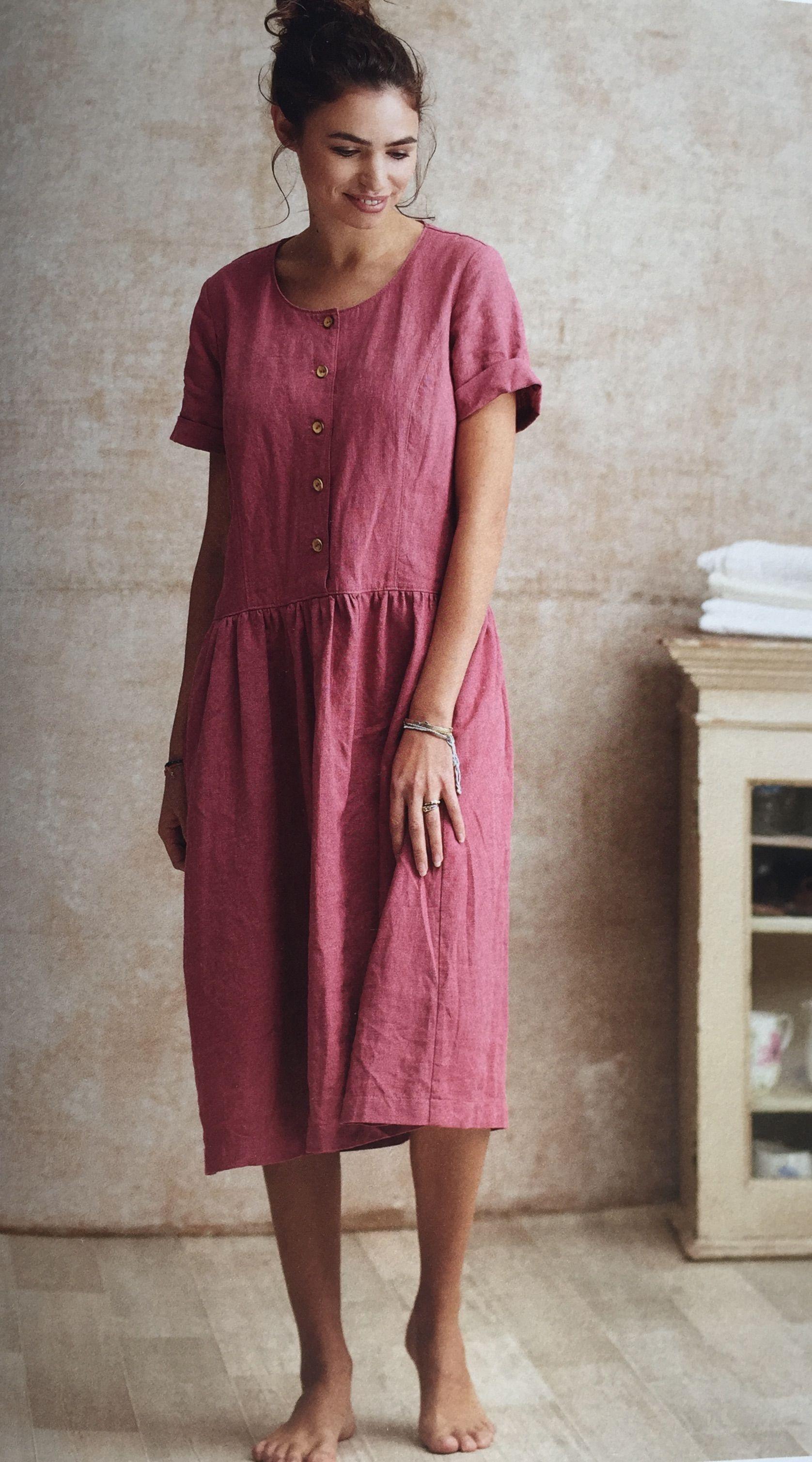 Kleid Runa Aus Leinen Leinen Kleidung Kleidung Nahen Kleid Nahen