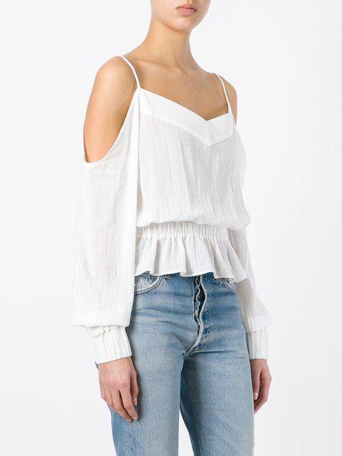 Balmain off-shoulder blouse