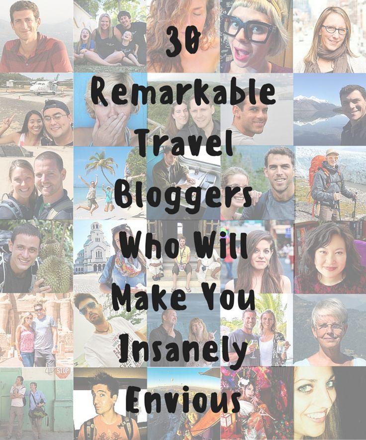 """""""30 Remarkable Travel Bloggers Who Will Make You Insanely Envious"""" feat. @theplanetd @teacaketravels @nomadicmatt @goatsontheroad @onemoderncouple @nomadasaurus @2wksincr @travelwitbender @adventurouskate @nomadicchick @iamaileen @Just1WayTicket @theholidaze @expertvagabond @onestep4ward @globotreks @gettingstamped @holeinthedonut @umarket @TravellingBuzz @foxnomad @jodiettenberg @thisamericagirl et al."""